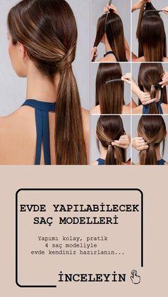 Yapımı kolay, pratik 4 saç modeliyle evde kendiniz hazırlanın...#sacmodelleri #güzellik #saç #sac