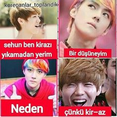 Source by i_beyaztas Bts Vs Exo, Funny Times, Exo Memes, Thug Life, Funny Photos, First Love, Comedy, Kpop, Girls Bedroom