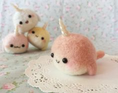 Handmade Kawaii Narwhal Key charm or strap by BatnBunny on Etsy