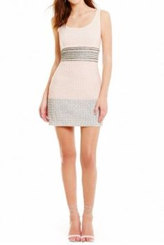 Badgley Mischka Gray Pink Sequin Scoop Back Maddy Cocktail Dress Prom  Dresses For Sale 3fffe529f