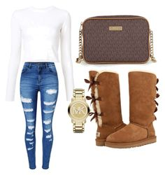 """""""Untitled #61"""" by adoremiah ❤ liked on Polyvore featuring WithChic, Proenza Schouler, UGG and Michael Kors"""