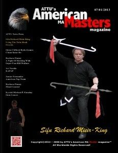 Pinterest - July 2013 issue of ATTU's American Martial Arts Masters magazine.  Twin hook sword article begins on page 8 and running 6 pages in length.