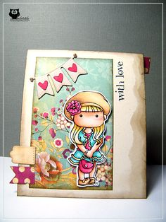 Copic, Card, CAS, Little Miss Muffet Stamps