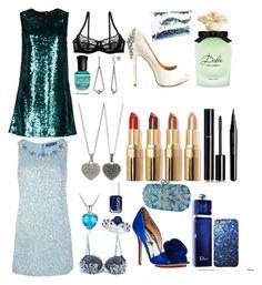 """Green and Blue"" by fashionkat20 ❤ liked on Polyvore featuring Belec, Dolce&Gabbana, STELLA McCARTNEY, Badgley Mischka, Allurez, Deborah Lippmann, BERRICLE, Judith Jack, Christian Dior and Essie"