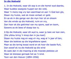 In die Hoëveld Afrikaans, Where The Heart Is, Food For Thought, Beautiful Words, School Ideas, Verses, Poems, How To Memorize Things, Language