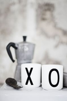 Misc collected coffee mugs from travels or thrift shops. French press coffee in these perfect cups XO