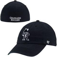 Colorado Rockies Blackout Franchise Fitted Hat – Black