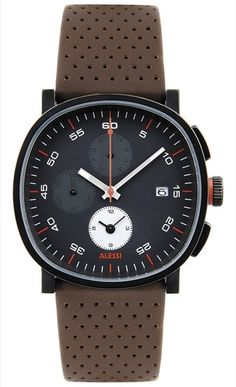 The Tic Chronograph by Piero Lissoni for Alessi Modern Watches, Luxury Watches, Cool Watches, Watches For Men, Casual Watches, Wrist Watches, Dezeen Watch Store, Style Masculin, Alessi