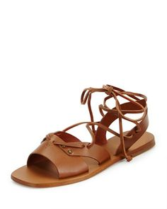 Leather Wide-Strap Gladiator Sandal, Cuir by Tomas Maier at Neiman Marcus.