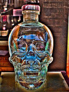 Funky Crystal Head Vodka Bottle photography. #skull