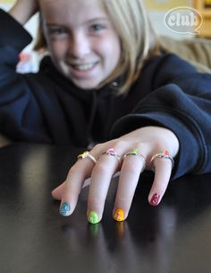 2013 tween microbead manicure DIY - -so cute!