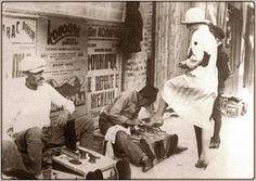 Shoe cleaner, Belgrade street, 1920s
