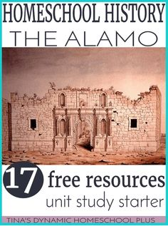 Homeschool History- The Alamo - 17 Free Resources. Grab these free homeschool history unit study starter ideas for learning about the Alamo. History Activities, Teaching History, Book Activities, History Education, Texas Education, Texas History, Us History, History Class, History Projects