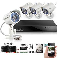 Funlux 8CH HDMI DVR Outdoor IR Home Surveillance Security Camera System500GB HDD #Funlux