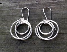 Brushed Circlet Earrings by Bybella on Etsy, $42.00