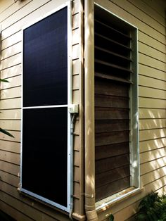 Before & After - Flyscreen over Louvres using Security Frame & Pet Mesh
