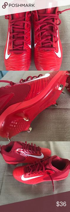 Nike Men's Zoom Trout Baseball Metal Cleats  Sz 7 New without box.  A brand-new Nike Trout 3 PRo MCS Baseball cleats.  Durable, supportive, synthetic leather uppers.  TPU cleat plate with nine blades for aggressive traction. Nike Shoes Athletic Shoes