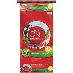 Purina ONE SmartBlend Lamb and Rice Formula Adult Premium Dog Food 40 lb. Bag >>> Continue to the product at the image link. (This is an affiliate link and I receive a commission for the sales) #Pets