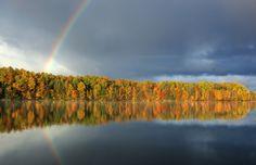 Indian Summer Autumn / Moccasin Lake, Michigan, USA