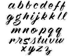 Image result for brush lettering alphabet worksheet