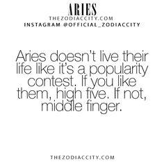 Zodiac Aries Facts! TheZodiacCity.com - For more zodiac fun facts, click here.