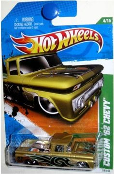 Hot Wheels Treasure Hunts '11 Custom '62 Chevy 4/15 1:64 Scale Die-Cast Car by Mattel. $6.89. 54/244. Custom '62 Chevy 4/15. 2011 Hot Wheels Treasure Hunts. 1:64 Scale Die-Cast Collectible Car