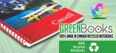 Banner Pen-Green Books-100% made in Canada, recycled notebooks. http://www.creatchmanpromo.ca/