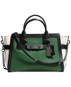 COACH SWAGGER WITH CHAIN IN PEBBLE LEATHER - Handbags  amp  Accessories -  Macy s Coach Purses 0ffc782f5c
