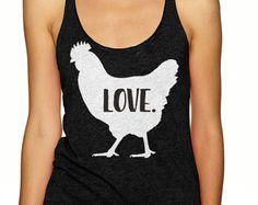 Chicken Shirt Love Women's V-Neck T-Shirt by LibertyIslandFarm