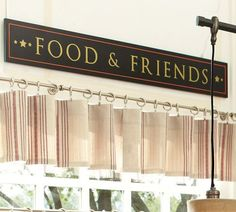 Food and Friends wall decor