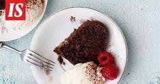 Tämä suklaakakku on sekoittamalla valmis uuniin ja onnistuu myös vegaanisena. Candies, Tiramisu, Baking, Ethnic Recipes, Sweet, Ideas, Food, Candy, Bakken