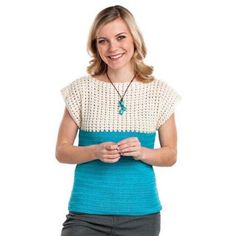 Two Tone Tee Top Free crochet pattern Download