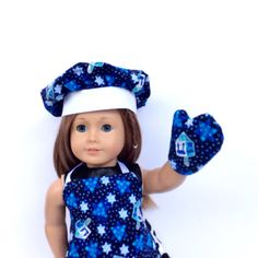 Hanukkah Chef's Set 18 Inch Doll Clothes Chanukah by DonnaDesigned