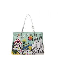 Borsa Braccialini Cartoline shopping Barcellona B10212 - Scalia Group #borse #braccialini #glamour #fashion