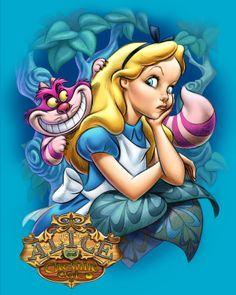 Alice and Cheshire Cat by Pedro Astudillo