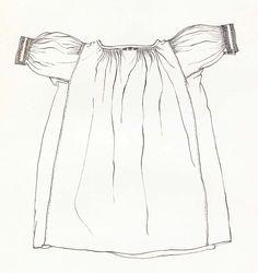 Rukávce, Sečovská Polianka, koniec 19. storočia. Rukávce (oplečko) sú ušité z hrubšieho domáceho bavlneného plátna. Majú rovný strih s kolmo prišitými rukávmi a so širokými bočnými klinmi. Siahajú do výšky bokov. Svojou dĺžkou pripomínajú skôr dlhú ženskú košeľu. Začiatkom 20. storočia sa dĺžka ich drieku skrátila. Rukávce z bavlneného plátna patrili k sviatočným odevným súčiastkam. Vo všedné dni sa nosili rukávce z domáceho konopného plátna, zvyčajne bez akejkoľvek výzdoby.