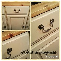 Ah! ♥ A pine farmhouse kitchen dresser is getting the MissElaineous treatment. A work in progress, painted with Annie Sloan Old Ochre Chalk Paint, lightly distressed and clear waxed. ♥ #misselaineous #anniesloan #chalkpaint #morethanpaint #reloved #oldochre #pine #farmhouse #kitchen #dresser #countrystyle #rustic #distressed #clearwax #ascp #2015 #love #workinprogress