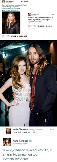 Anna Kendrick is awesome. Jared Leto is too. Lol, Haha Funny, Funny Stuff, Hilarious, I Love To Laugh, Make Me Smile, Jared Leto Hair, Thing 1, Pitch Perfect
