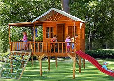 Cute kids play house