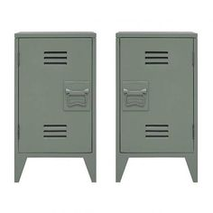Looking for a convenient storage for bedside? With the beautiful HK Living bedside tables in 'locker' style, it's easily done. Painted in army green, grey or white with a cool twist. Art Deco Furniture, Living Furniture, Bedroom Furniture, Vintage Industrial Decor, Industrial Style, Industrial Bedroom, Bedside Lockers, Bedside Cabinet, Vintage Lockers