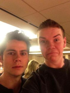 Dylan O'Brien and his 'The Maze Runner' co-star Will Poulter! :)