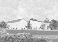 social/cultural center grand saconnex, switzerland march 2014 fala atelier architecture rendering