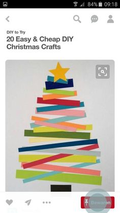 kerstboom van stroken