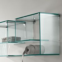 Tonelli - Glass Wall Shelf with Two Supports Qty x1 only