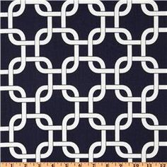 I like this for possible chair cushions.  I like the idea of navy blue with grass green for a really crisp look.