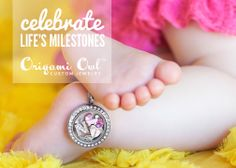 We LOVE newborns! Surprise an expecting mom with this lovely Living Locket creation!