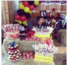 Mickey Mouse western theme. 1st birthday