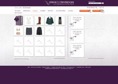 #Axance - Place des tendances #website #redesign - Fitting room