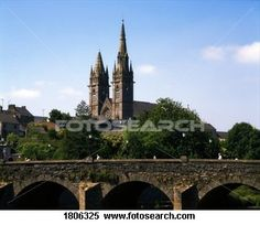 The uneven spires of Omagh's Sacred Heart Church, Co Tyrone, Ireland View Large Photo Image Tyrone Ireland, Medical Illustration, Large Photos, Sacred Heart, Barcelona Cathedral, Places To Travel, Architecture Design, Irish, Spain