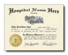Sc. 10 Mock Birth Certificate (for Rooster) | Props